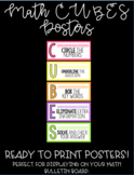 Math CUBES Posters (READY TO PRINT)