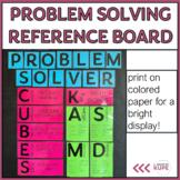Math CUBES Problem Solving & Math Key Words Bulletin Board Posters