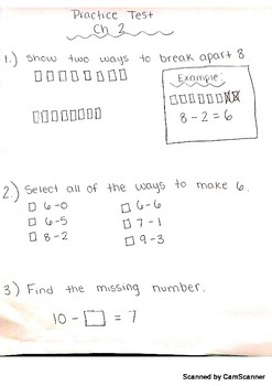 Math Cadre Chapter 2 Practice Math Test