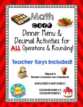Math Cafe Decimal Activities