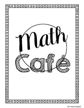 Math Cafe Dinner Menu