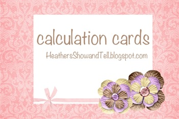 Math Calculation Cards HUGE pack!