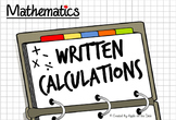Math: Written Calculation Practice - Four Operations