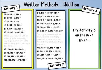 Math: Written Calculation Practice - Four Operations