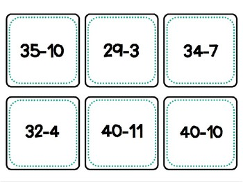 Math Calendar Addition and Subtraction