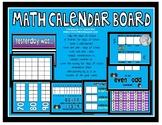 Math Calendar Board (Blue Purple with Black Border)