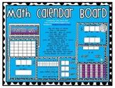 Math Calendar Board (Blue/Black  Dots, Purple Accent)