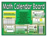 Math Calendar Board (Green/Yellow)