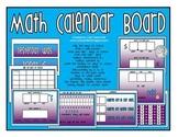 Math Calendar Board (Purple/Blue)