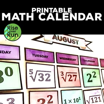Math Calendar