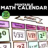 Math Calendar: Mixed Problems