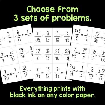 Math Calendar Bulletin Board, Proportions