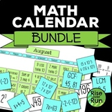 Math Calendar Bundle