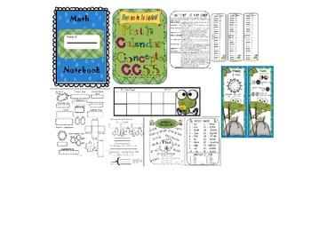 Math Calendar Concepts CCSS Annual Packet