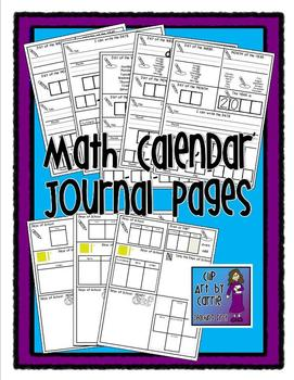 Math Calendar Journal Sheets for Daily Practice