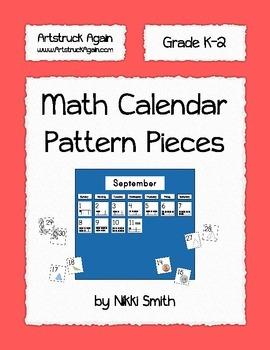 Math Calendar Pattern Pieces