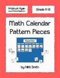 Math Calendar Pattern Pieces