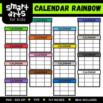 Math Calendar Rainbow Clip Art
