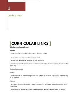 Math Calendar Routines