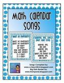 Math Calendar Songs FREEBIE