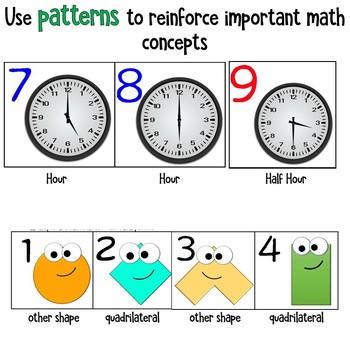 Math Calendar Tiles for K to 2nd grade + editable holiday tiles