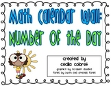 Math Calendar Wall: Number of the Day Sample