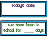 Math Calendar Wall Poster Set: Number of the Day