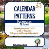 Grade 2 and 3 Spiral Math through Calendar patterns