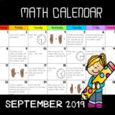 Math Calendar 2019! (september 2019)