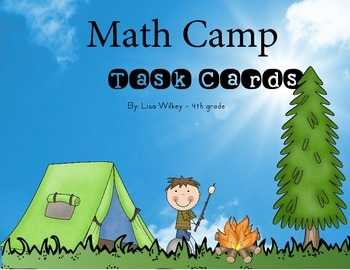 Math Camp Task Cards