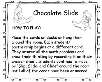 "Math Can Move_ Editable Version for February called ""Chocolate Slide"""