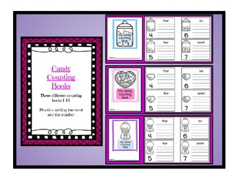 Valentine's Math - Candy Counting Book 1-10