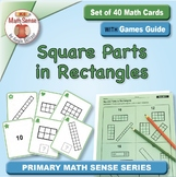 Square Parts in Rectangles: 40 Math Matching Game Cards 2G