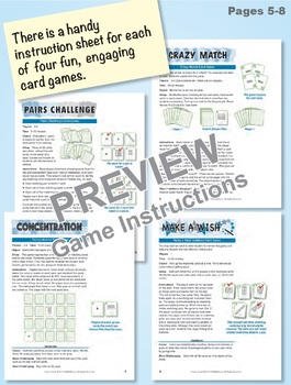 Square Parts in Rectangles: 40 Math Matching Game Cards 2G13