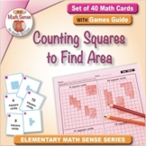 Counting Squares to Find Area: 40 Math Cards with Games Gu