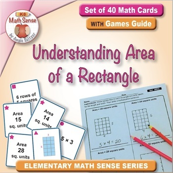 Understanding Area of a Rectangle: 40 Math Matching Game Cards 3M33