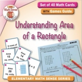 Understanding Area of a Rectangle: 40 Math Cards with Game