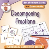 Decomposing Fractions: 40 Math Cards with Games Guide 4F25