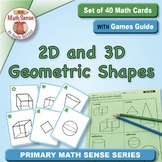 Two- and Three-Dimensional Shapes: 40 Math Matching Game Cards KG14