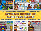 Growing Math Card Game Bundle {Place Value, Number Sense, Fractions, & Money}