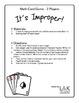 Math Card Game - IT'S IMPROPER! - Improper Fractions
