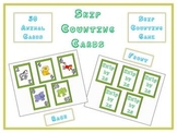 Math Card Game - Skip Count by 2s - Animal Version - Front and Back of Card
