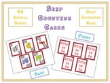 Math Card Game - Skip Count by 5s - Animal Version - Front and Back of Card