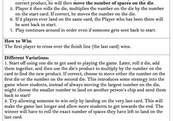 Math Card Games (3 for beginning/end of year fun or as a station!)