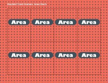 Math Card Games - Area Deck