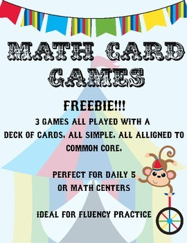 Math Card Games - Common Core Aligned - FREE SAMPLE PACK