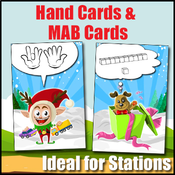 Math Card Games - Elf Number Playing Cards