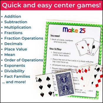 Math Card Games