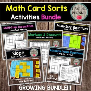 Math Card Sort Activities Bundle