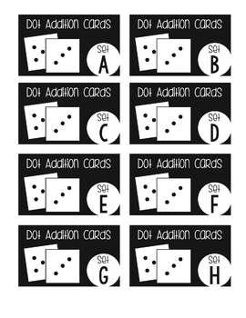 Math Card Tub Labels